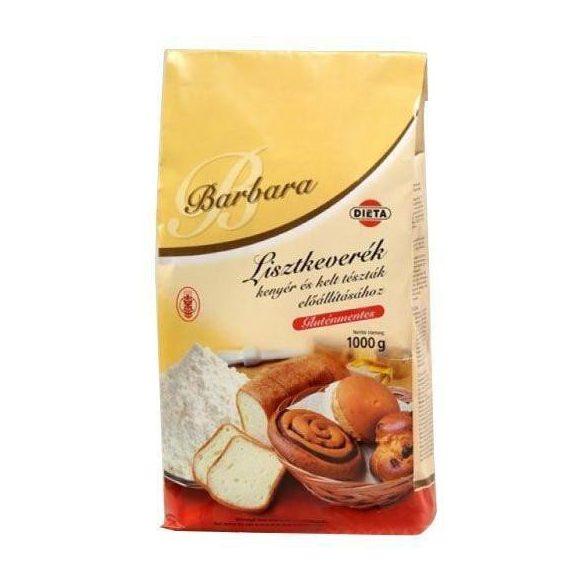Barbara gluténmentes lisztkeverék kenyérhez 1000 g