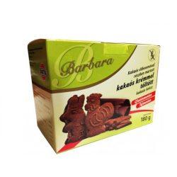 Barbara gluténmentes kakaós keksz kakaós tölt. étbevonatos 180 g