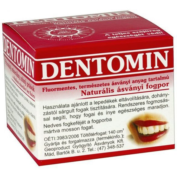 Dentomin fogpor natur 95 g