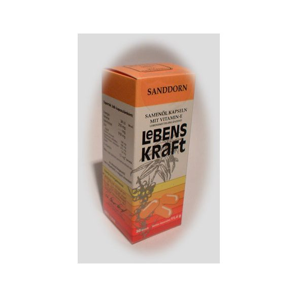 Sanddorn homoktövis magolaj kapszula e-vitaminnal 30 db