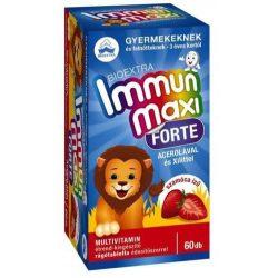 Bioextra immun maxi forte szamóca multivitamin gyerekeknek 60 db