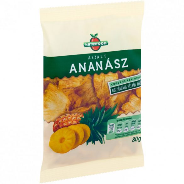 Naturfood aszalt ananász 80 g