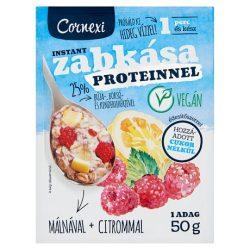 Cornexi vörösáfonyás-meggyes protein zabkása édesítőszerrel, vegán 50g