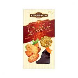 Diabon mandulás étcsokoládé 75 g