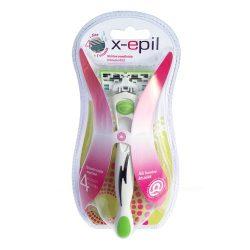 X-Epil 4 pengés cserélhető fejes női borotva