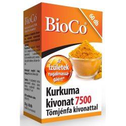 Bioco kurkuma kivonat 7500 tömjénfa kivonattal kapszula 60 db