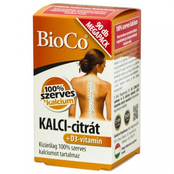 Bioco kalci-citrát+ d3-vitamin megapack kapszula 90 db