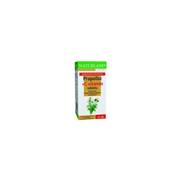 Naturland propolisz+c-vitamin tabletta 60 db