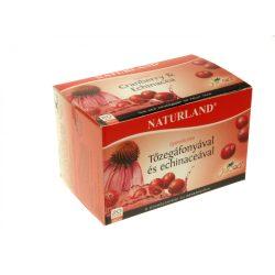 Naturland gyümölcstea tőzegáfonya-echinacea 20x2g 40 g