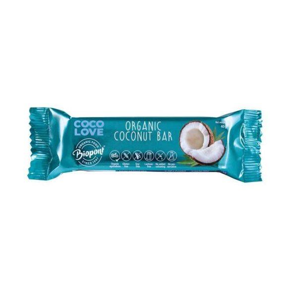 Biopont bio coco love kókuszos szelet 40 g