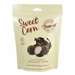 Biopont bio sweet corn étcsokoládéval bevont extrudált kukorica, gluténmentes 65 g