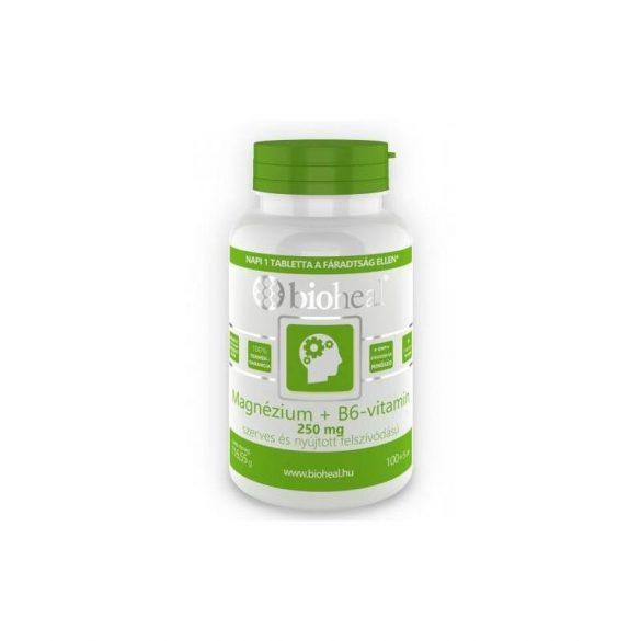 Bioheal magnézium+b6-vitamin szerves nyújtott felsz. 105 db