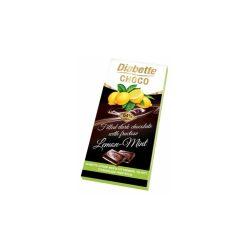 Diabette töltött étcsokoládé citrom-menta 80 g