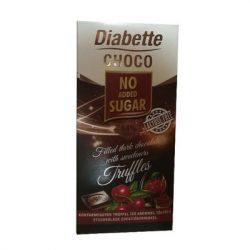 Diabette nas laktózmentes konyakmeggyes trüffelkrémmel töltött étcsokoládé  édesítőszerrel, eritrittel 80 g