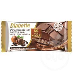 Diabette nas laktózmentes étcsokoládé, kakaós ostyával dúsítva édesítőszerrel, erittel 130 g