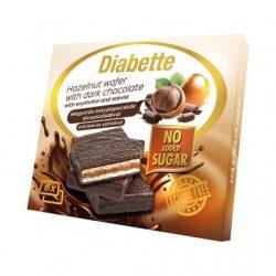 Diabette nas laktózmentes mogyorós krémmel töltött ostyalapocskák étcsokoládéval mártva édesítőszerrel, erittel 96 g