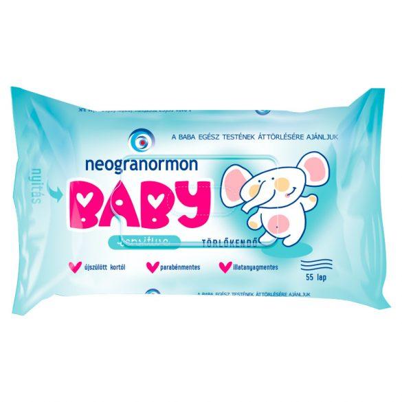 Neogranormon baba törlőkendő sensitive 55 db