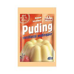 Haas natural pudingpor vanília 40 g