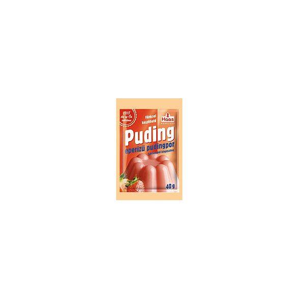Haas natural pudingpor szamóca 40 g