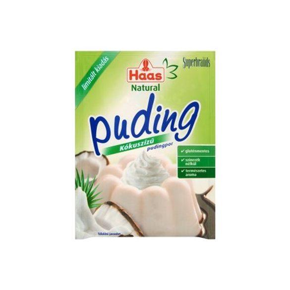 Haas natural pudingpor kókuszízű 40 g