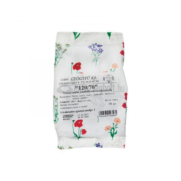 Gyógyfű 120/70 vérnyomás csökkentő szálas teakeverék 50 g