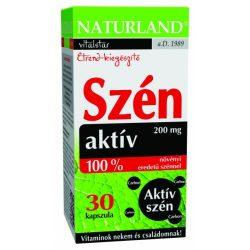 Naturland aktív szénkapszula 200 mg + édeskömény 30x 30 db