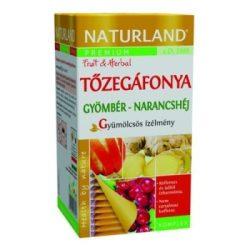 Naturland gyümölcstea tőzegáfonya-gyömbér narancshéj 20x2g 40 g