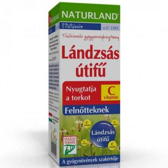 NATURLAND LÁNDZSÁS ÚTIFŰ+C SZIRUP FELN. 150 ml
