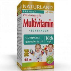 Naturland multivitamin+echinacea gyerek multivitamin gumitabletta 45 db