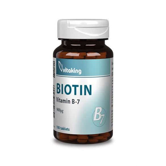 VITAKING BIOTIN B7-VITAMIN TABLETTA 100 db