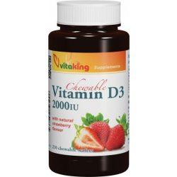 Vitaking d3 vitamin 2000ne epres rágótabletta 90 db