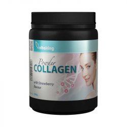 Vitaking collagen powder strawberry eper ízű kollagén por 330 g