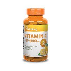 Vitaking vitaminc-1000 + d-4000ne tabletta 90 db