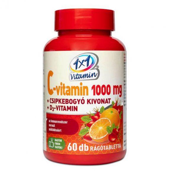 1x1 vitamin c-vitamin 1000 mg+d3 csipkebogyó rágótabletta narancs 60 db