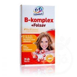 1x1 vitamin b-komplex+folsav étrend-kiegészítő ftbl bioperin 28 db