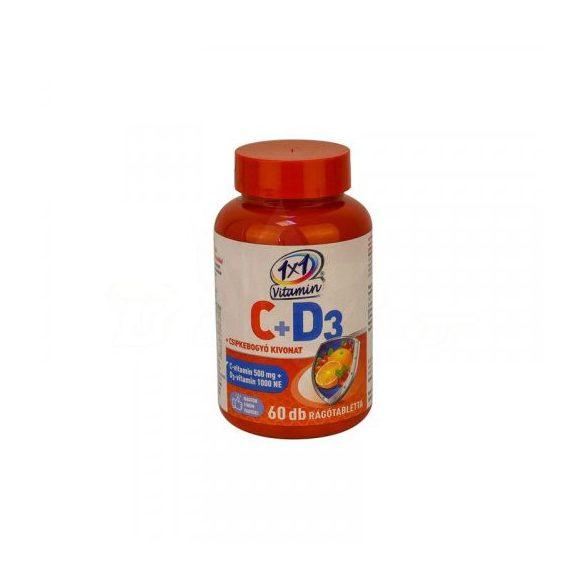 1x1 vitamin c-vitamin 500mg+d3+csipkebogyó rágótabletta narancs 60 db