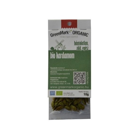 Greenmark bio kardamom hántolatlan zöld egész 10 g