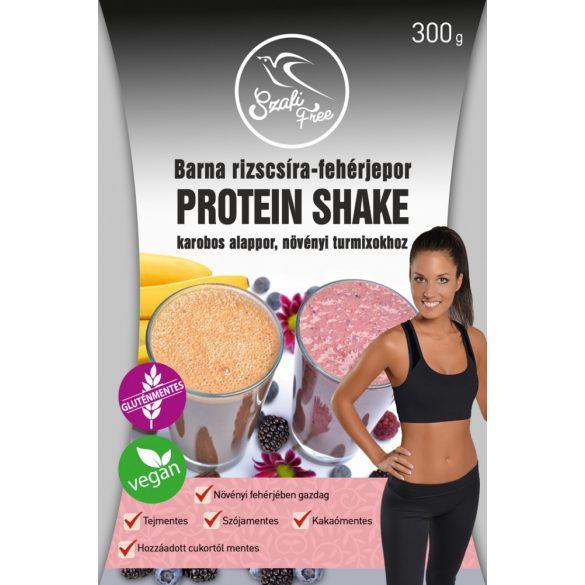 Szafi Free barna rizscsíra-fehérjepor protein shake karobos 300 g