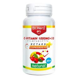 DR Herz C-vitamin 1000mg csipkebogyó kivonattal + D3 60 db tabletta #GJ