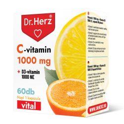 DR Herz C-vitamin 1000 mg + D3-vitamin 1000 NE 60 db kapszula