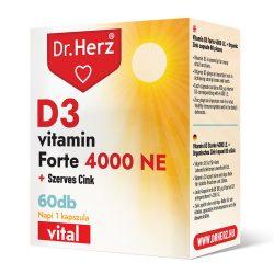 DR Herz D3-vitamin 4000 NE+Szerves Cink 60 db kapszula