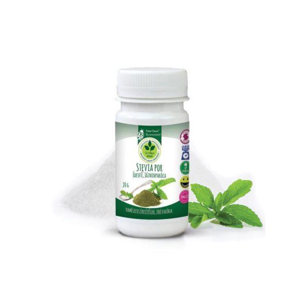 Dr. Natur étkek, Stevia por (Édesfű, Jázminpakóca) Sütéshez, főzéshez, teaként és kozmetikai célokra.