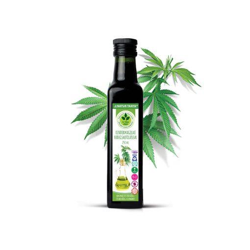 Dr. Natur étkek, Prémium Kendermagolaj Hidegsajtolással. külsőleg és belsőleg, egyaránt!  250 ml
