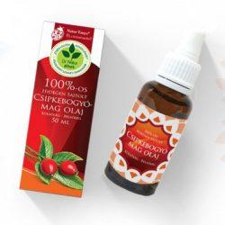 Dr. Natur étkek, Csipkebogyómag olaj - 100%-os, Hidegen sajtolt, prémium minőség. Külsőleg – Belsőleg.