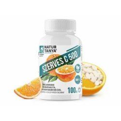 SZERVES C 500 – Kétféle C-vitamin és citrus bioflavonoidok gyomorkímélő  rágótablettában, finom narancs ízben 100 db