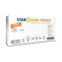 Starguard touch vizsgáló kesztyű latex L méret 100 db