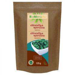 Bio menü bio chlorella és spirulina tabletta 125 g