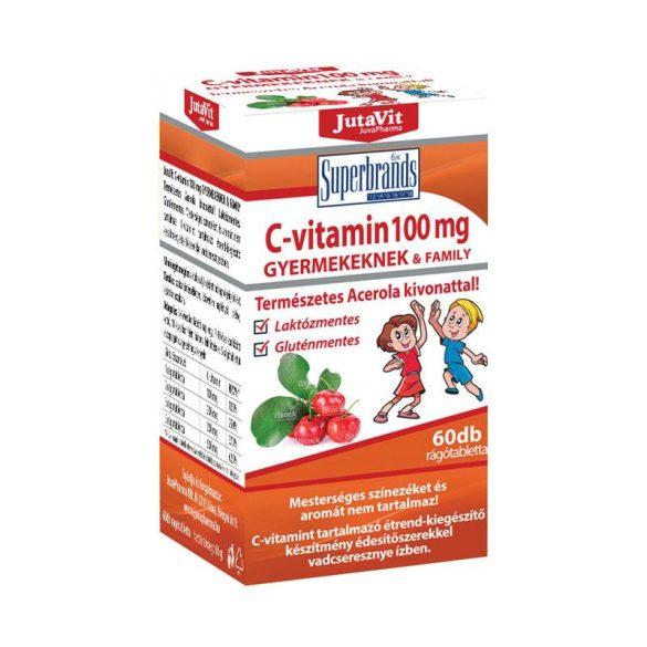 Jutavit c-vitamin 100mg gyerek és family acerola kivonattal 60 db