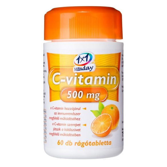 1x1 vitaday c-vitamin 500mg rágótabletta 60 db