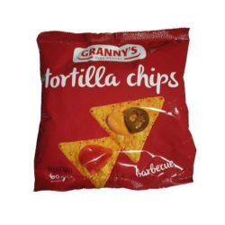 Grannys barbecue tortilla chips 60 g